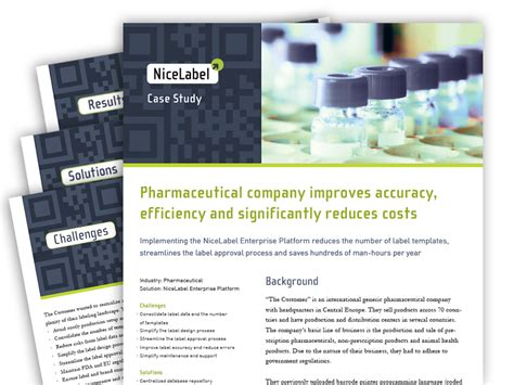 product layout case study nicelabel best practices and case studies nicelabel