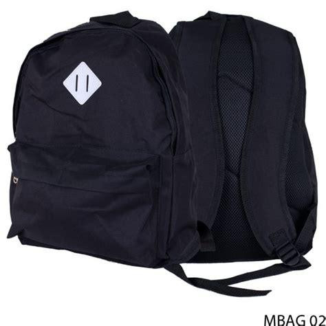 Ransel Polos tas ransel polos kanvas hitam mbag 02 gudang fashion
