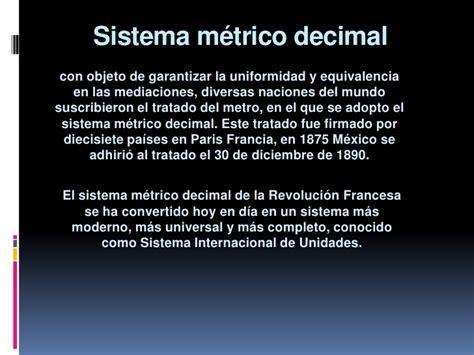 sistema metrico sistema metrico decimal blog