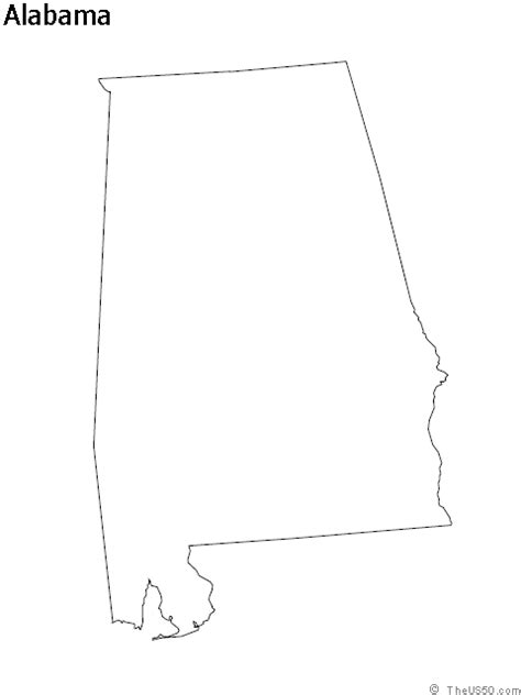 alabama map outline the us50 a guide to the state of alabama geography