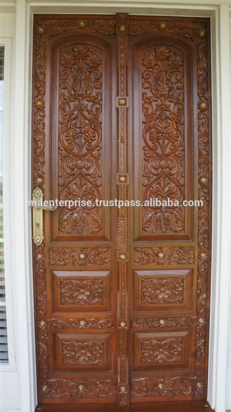 farnichar door intricate wood door  iron work