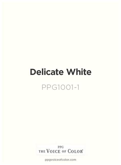 ppg voice of color delicate white ppg1001 1 voice of color ppg pittsburgh