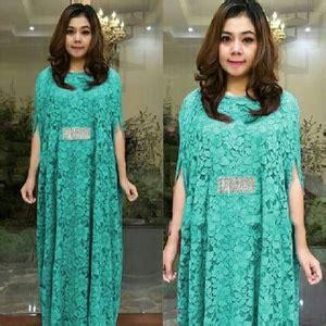 Kaftan Brukat Toska baju kaftan dress bahan brukat cantik model terbaru