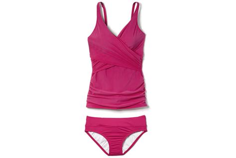 the best swimsuits for all body types real simple lands end shaping wrap tankini the best swimsuits for