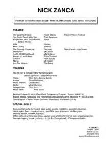 sle of resume in word format resume cv sles