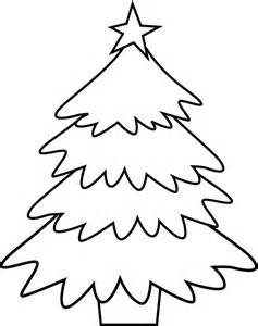 Christmas Tree Coloring Pages For Kids sketch template