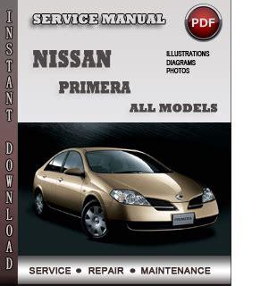 Nissan Primera Service Repair Manual Download Info