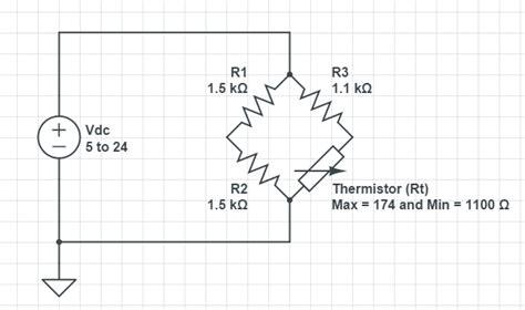 wheatstone bridge ntc thermistor thermistor determining the parameters of a wheatstone bridge electrical engineering stack