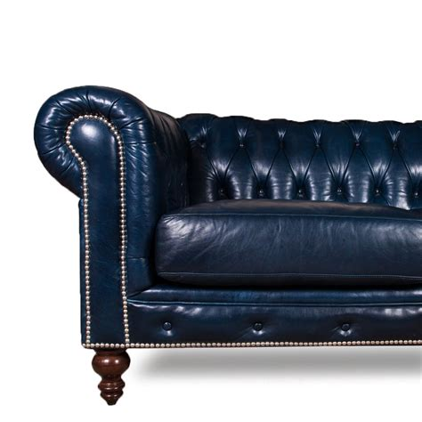 leather sofas chesterfield blue leather chesterfield sofa blue leather