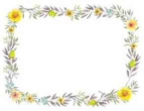flower border template free printable flower border