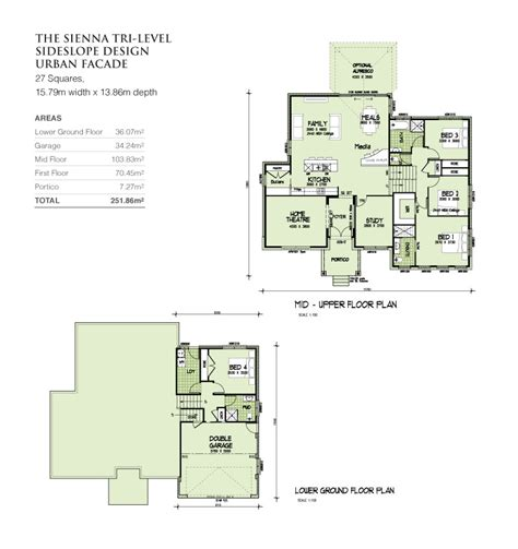 tri level home plans designs tri level sideslope design 27 squares home design tullipan homes