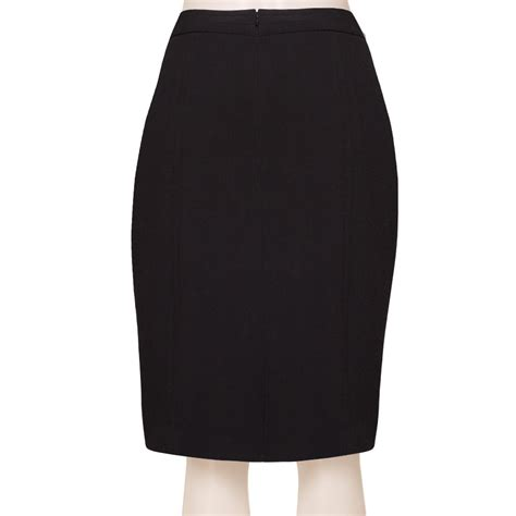 Black Pencil Skirt black satin high waisted pencil skirt elizabeth s custom