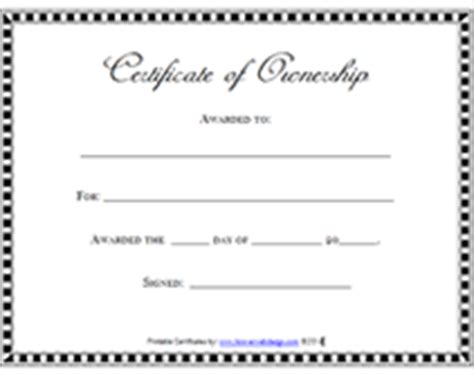 Free Property Ownership Records Free Printable Certificates Of Ownership Form Templates