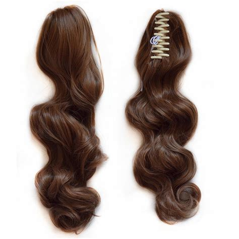 Wavy Ponytail Hair wavy real human hair ponytails hairpiece claw clip