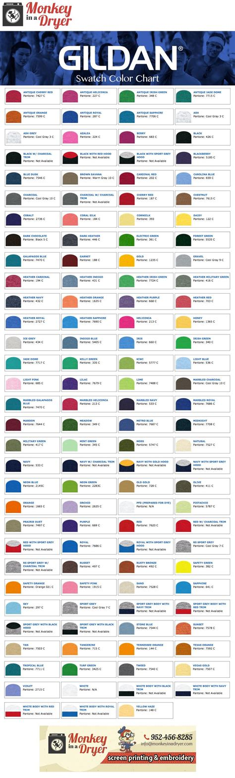 gildan colors gildan color chart hunt hankk co