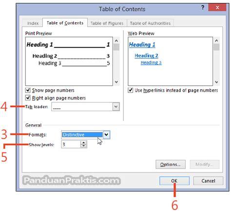 format tab untuk daftar isi tik kesukaanku cara mengubah format daftar isi table of