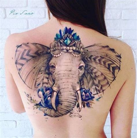 50 elephant tattoos on back best 25 watercolor elephant tattoos ideas on