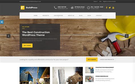 wordpress themes builder free bold professional web design for tombleson construction