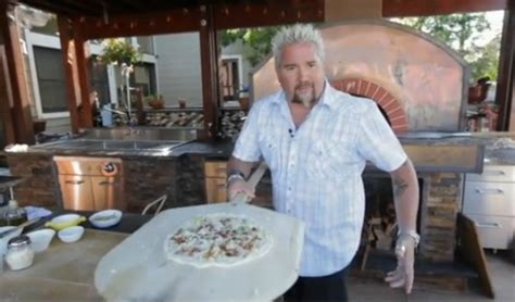 guy fieri s home kitchen design watch guy fieri make pizza in his wood fired oven
