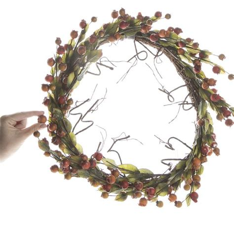 fall artificial berry and twig wreath wreaths floral