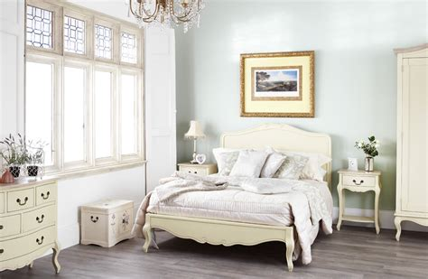 Juliette Shabby Chic Chagne 5ft King Size Bed Cream Shabby Chic Bed Frame King