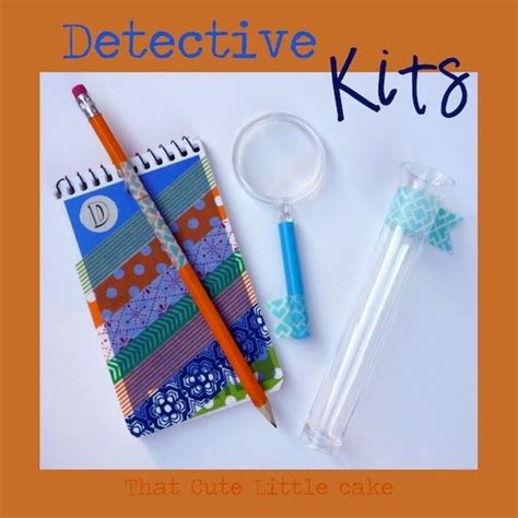 theme junkie mystery detective party detective kits that cute little cake
