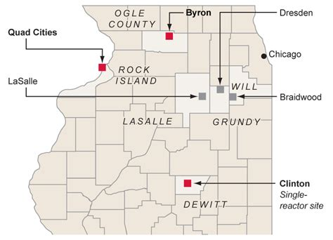 map of illinois power plants nuclear power in illinois chicago tribune