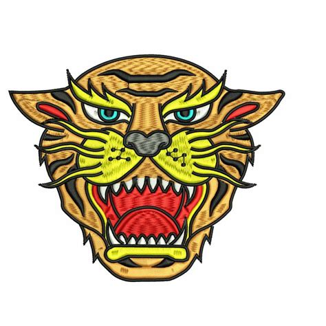 embroidery face tiger embroidery design
