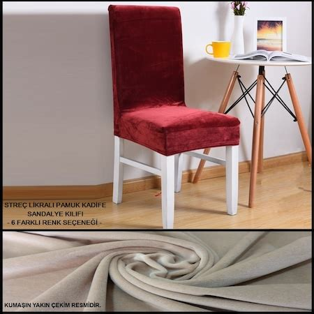 strec likrali pamuk kadife sandalye kilifi kalite