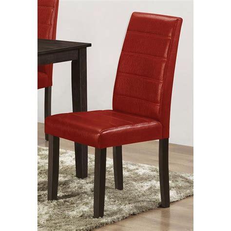 ls plus dining chairs brassex santiago faux leather dining 17 quot x 22 quot x 38