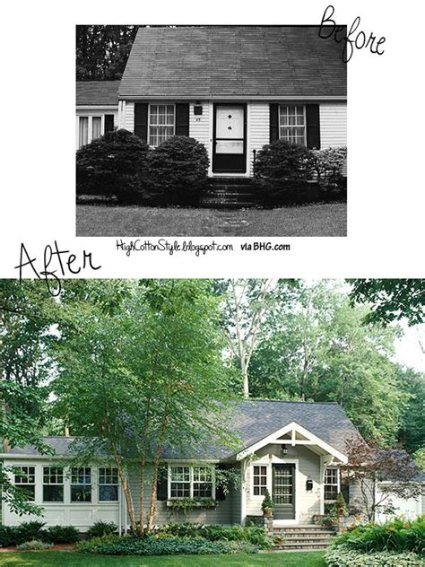 before and after house renovation outside