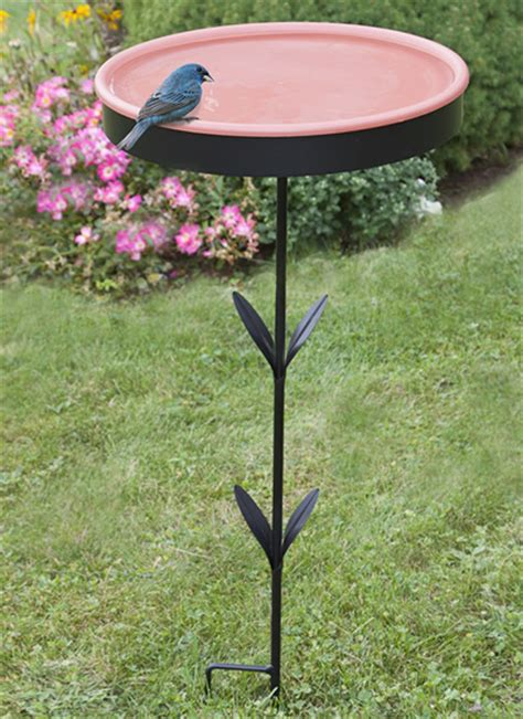 duncraft com ground stake bird bath