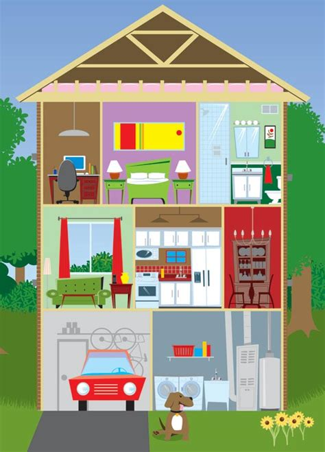 picture of a house apartment and furniture german language