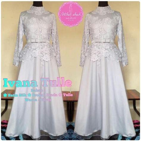 Bahan Tulle Prada Korea Gaun Dress Kebaya Harga Permeter baju pesta seragam keluarga ivana tulle bisa dicicil untuk baju lebaran 2017 made by order