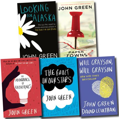 green collection 5 books set the fault in our