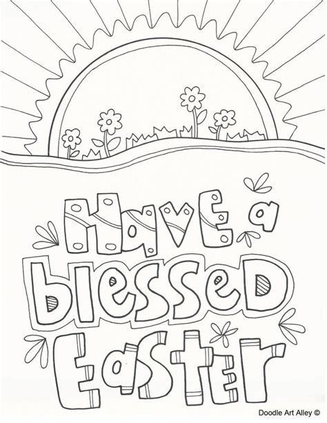 christian easter coloring pages religious easter coloring page religious doodles