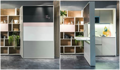 an inspirational apartment living in a shoebox clei launches space saving hideaway kitchen living in a