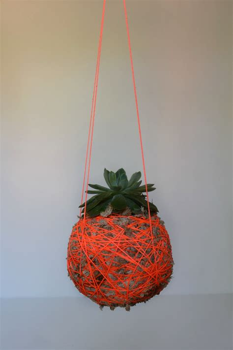 Planter Table Diy Hanging Moss Ball Planter L Hanging String Plant