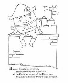 bluebonkers nursery rhymes coloring page sheets humpty
