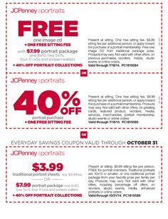 jcpenney portrait coupons printable 7 99 current jcpenney portraits offers on pinterest portraits