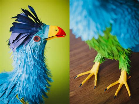 How To Make 3d Paper Birds - lifelike bird sculptures made from paper by diana herrera