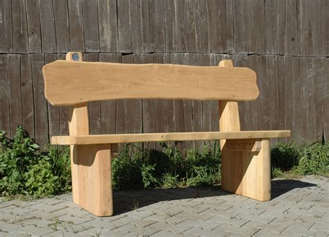 wooden bench with backrest wooden bench rustic bench with backrest ziegler spielpl 228 tze