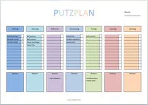 Haushaltsplan Vorlage Putzen by Putzplan F 252 R Die Ganze Familie Haushaltsplan Erstellen