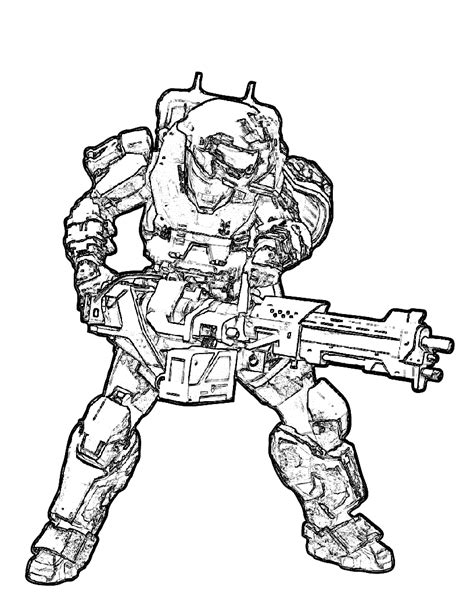 Free Printable Halo Coloring Pages For Kids Spartan Coloring Pages