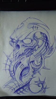 biomechanical tattoo step by step drawings of skulls skull jester 1 by thelob draw it up