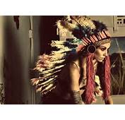 Feathers Girl Indian Native American Tattoos Weird