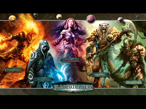 magic the gathering wallpaper of the week planeswalkers magic the gathering