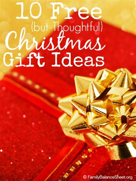 thoughtful free christmas gift ideas family balance sheet