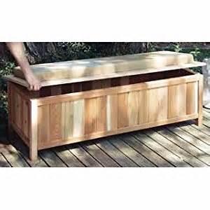 cedar storage bench outdoor ready with