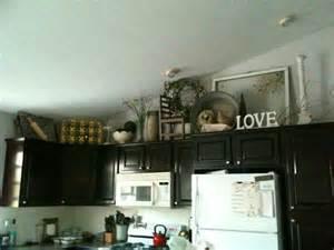 Decorating above kitchen cabinet kitchen pinterest